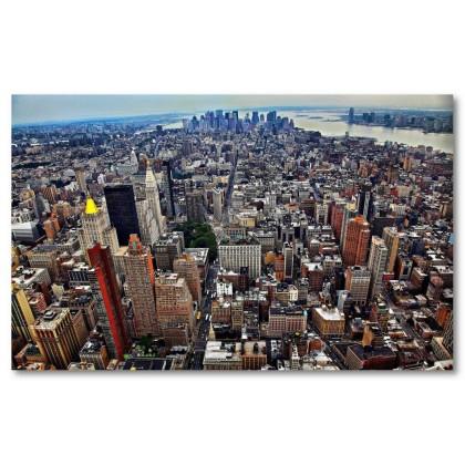 Αφίσα (ουρανός, φώτα, κυκλοφορία, κτίρια, Νέα Υόρκη)